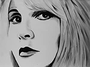 Buyartforless Canvas Stevie Nicks Painting Gallery Wrapped Wall Decor by Ed Capeau (18x24)