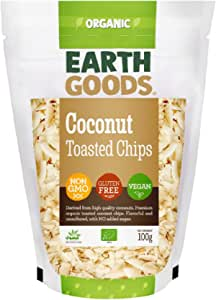 Earth Goods Organic Toasted Coconut Chips NON-GMO;Gluten-Free; Vegan 100g