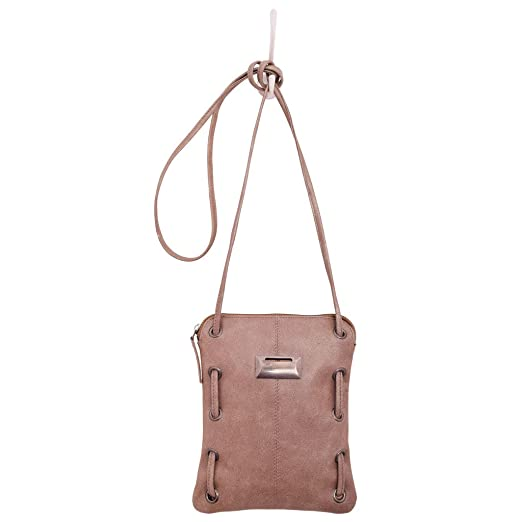 1e64d035fc Latico Leathers Vale Crossbody Bag, 100 Percent Luxury Leather Designer  Made, Weekend Casual Fashion, Crackle Metallic Rose: Handbags: Amazon.com