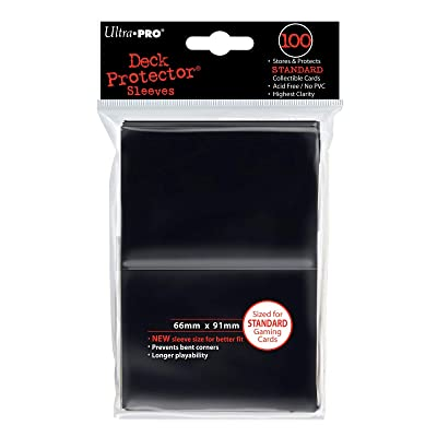 Ultra Pro Deck Protector Sleeves for Standard Size Cards | Black | 100-Count: Toys & Games