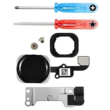 MMOBIEL Repuesto Botón de Inicio Home Compatible con iPhone 6S / 6S Plus (Negro/Gris Espacial) Incl Destornilladores
