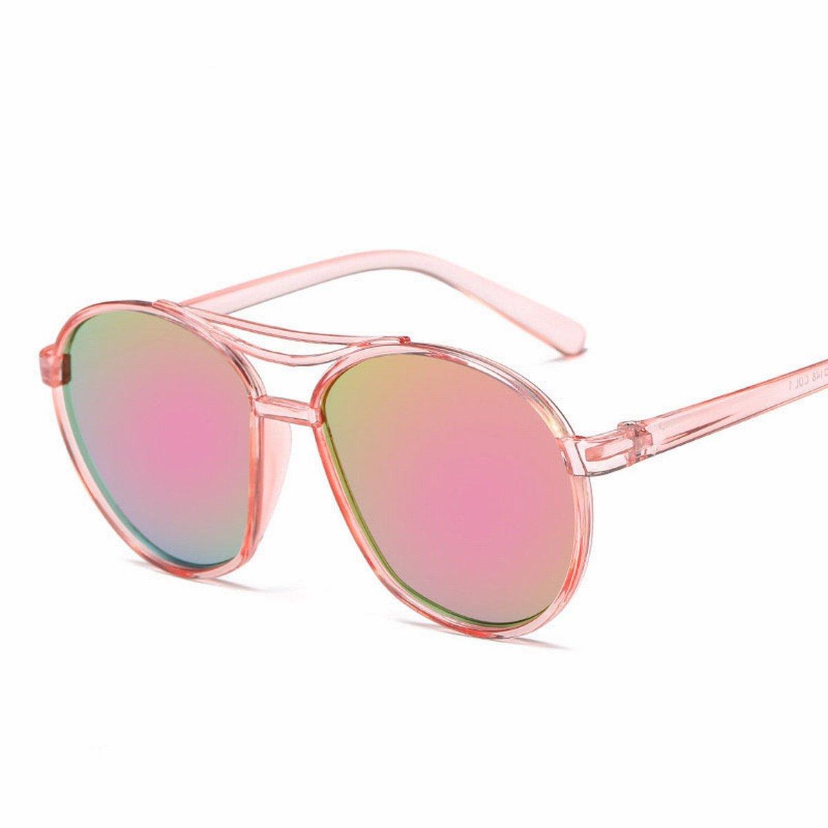 mode trimmen sonnenbrille Männer und frauen helle reflektierende Spiegel sonnenbrillen helles schwarzes rahmengold lDutAKRY