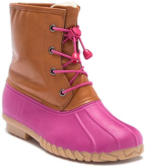 Amazon.com | Girls Pink Duck Boot Size