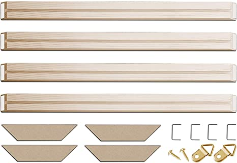 DIY Solid Wood Bar Canvas Frame Kit For Oil Painting Canvas Stretching System 4
