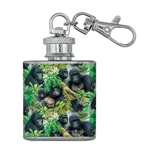 Gorilla Forest - Llavero de acero inoxidable con diseño de ...