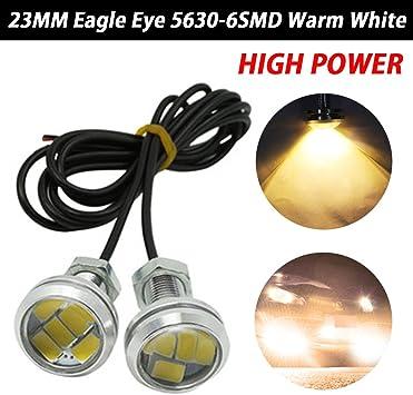 TABEN 10pcs 23mm LED White Eagle Eye Car Light High Power 9W LED Daytime Running DRL Tail Reverse Backup Parking Signal Bulbs DC 12V