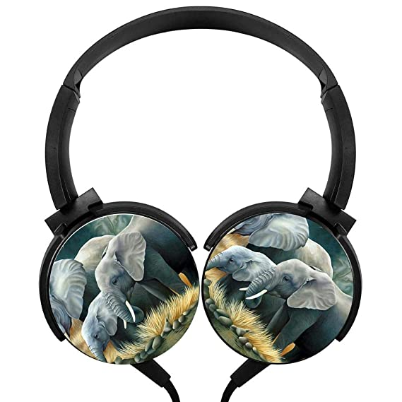 Amazon com: Wired Stereo Headphone 3D Animal Elephant Noise