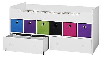 Einzelbett weiß mit schubladen  Marianne Halbhoch Bett, weiss, 90x200 inkl. 2 x Schubladen: Amazon ...