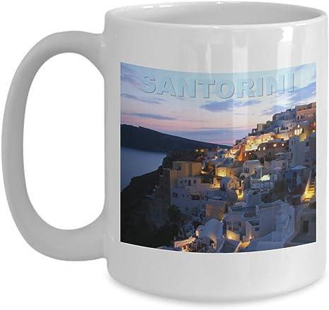 Amazon Com Santorini Greece Greek Islands Coffee Mug Kitchen Dining