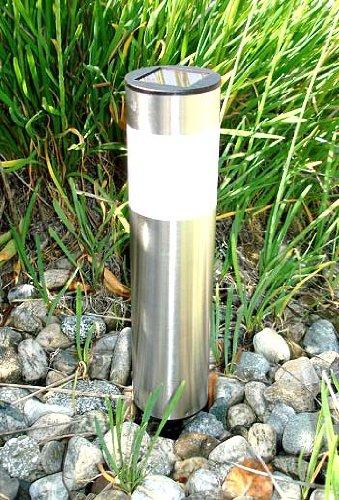 Stainless Steel Cylinder Solar Light