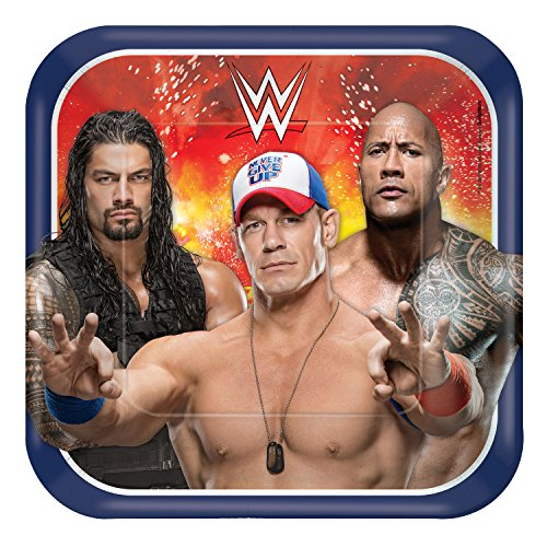 (Amscan WWE Square Plates, 9