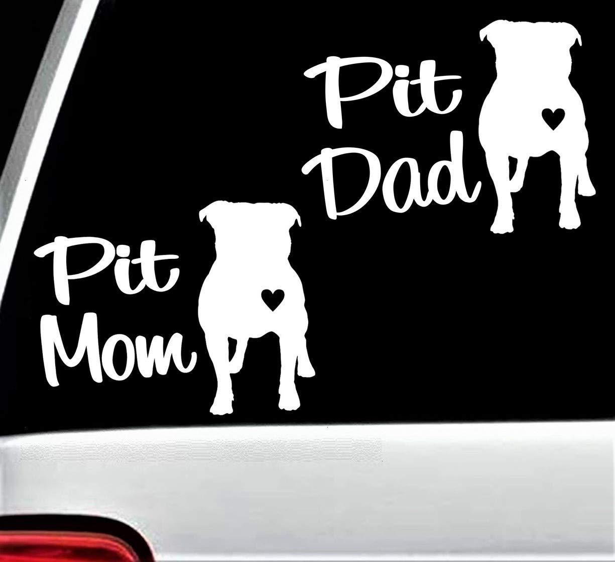 Pit Bull Mom Decal Car Window Dog Breed Puppy