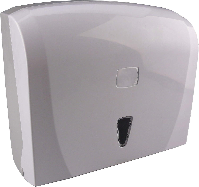Cleansv Via Weiss Handtuchspender Für Papierhandtücher Falthandtuch Spender Aus Kunststoff 26 Cm X 26 Cm X 13 Cm Baumarkt