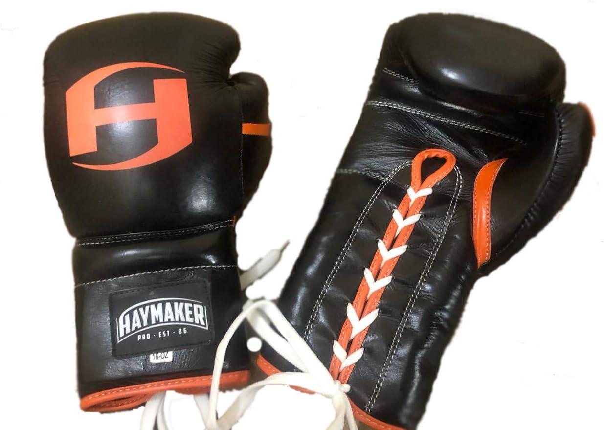 HAYMAKER custom boxing gloves genuine leather training boxing gloves,professional boxing gloves muye thai punch bag mitt