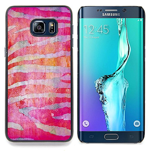 For Samsung Galaxy S6 Edge Plus / S6 Edge+ G928 Case , Zebra Stripes Red Fuchsia - Colorful Pattern Hard Back Snap-On Cover Case Skin Mobile Phone Shell Bumper