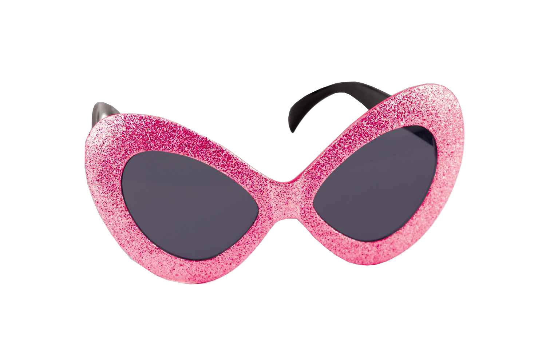 Forum Novelties Women's Novelty Adult Mod Glitter Glasses, Magenta, One Size