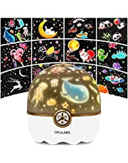 Night Light Kids Baby Night Light Star Projector Lamp Kids Toys for Girls,Girls Toys OPULARS Toys for 3-10 Year Old Girls Rechargeable Bedroom Lights 360° Rotating Led Lamp for Room Decor,Girls Gifts