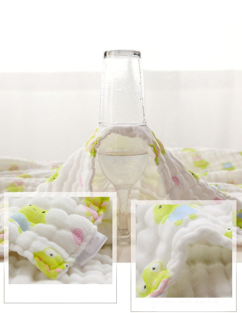 Lucear Muslin Baby Bath Towels Also Warm for Baby Blanket