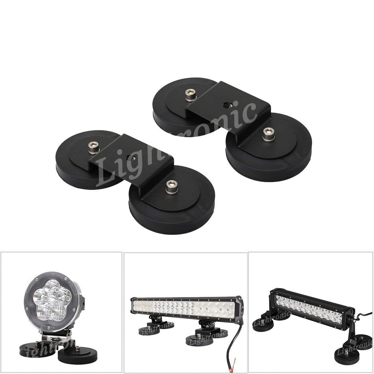 Lightronic Stark Magnete LED Auto Scheinwerfer Fahrlichtern Zusatzscheinwerfe LED Arbeitsleuchte Nebelscheinwerfer Halterung Flutlicht Spotlicht Zubehö r