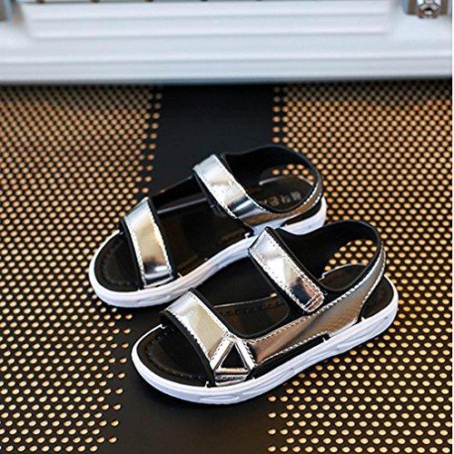 BZLine® Sommer Mädchen Sandalen Kinder Casual Sandalen Boys Beach Schuhe Silber