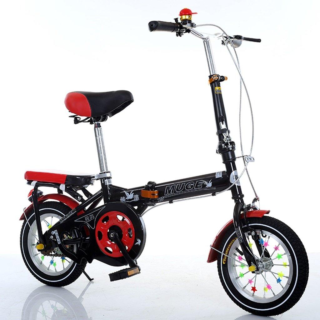 Bicicletas plegables para niños, niños y niñas Alumno Cuatro opciones de color Cuerpo de acero con alto contenido de carbono Robusto y seguro para niños de 5 a 13 años de edad 106-146 CM ( Color : C , Tamaño : 146