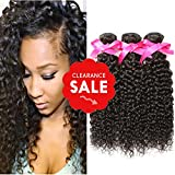 DSOAR Virgin Peruvian Kinkys Curly Hair Bundles, 3pcs Unprocessed Remy Kinkys Curly Human Hair Extensions (12″ 14″ 16″) Review