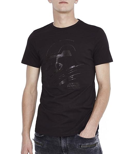 Celio Star Wars, Camiseta Para Hombre, Noir (Black), Small