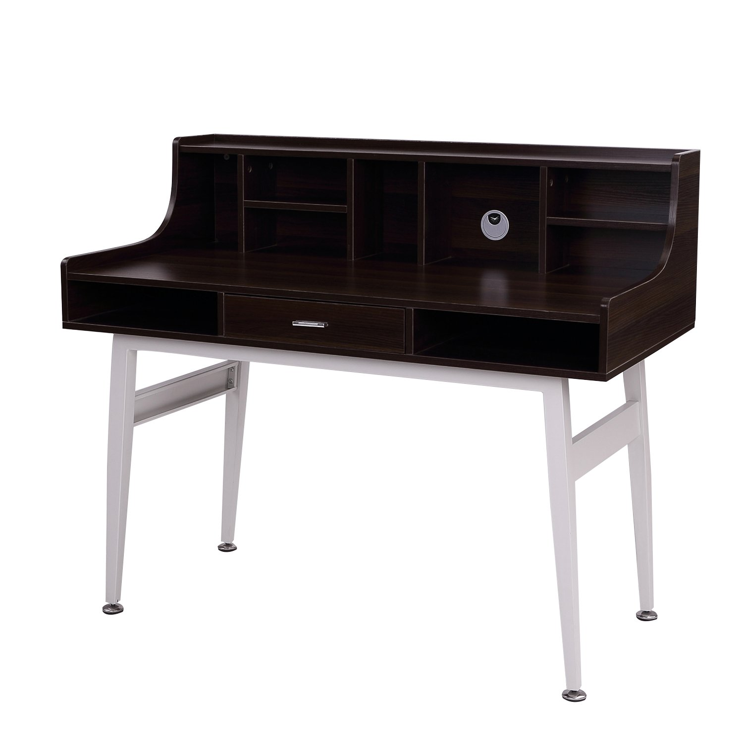 mid century modern office desk. amazoncom homcom 48 mid century modern office desk