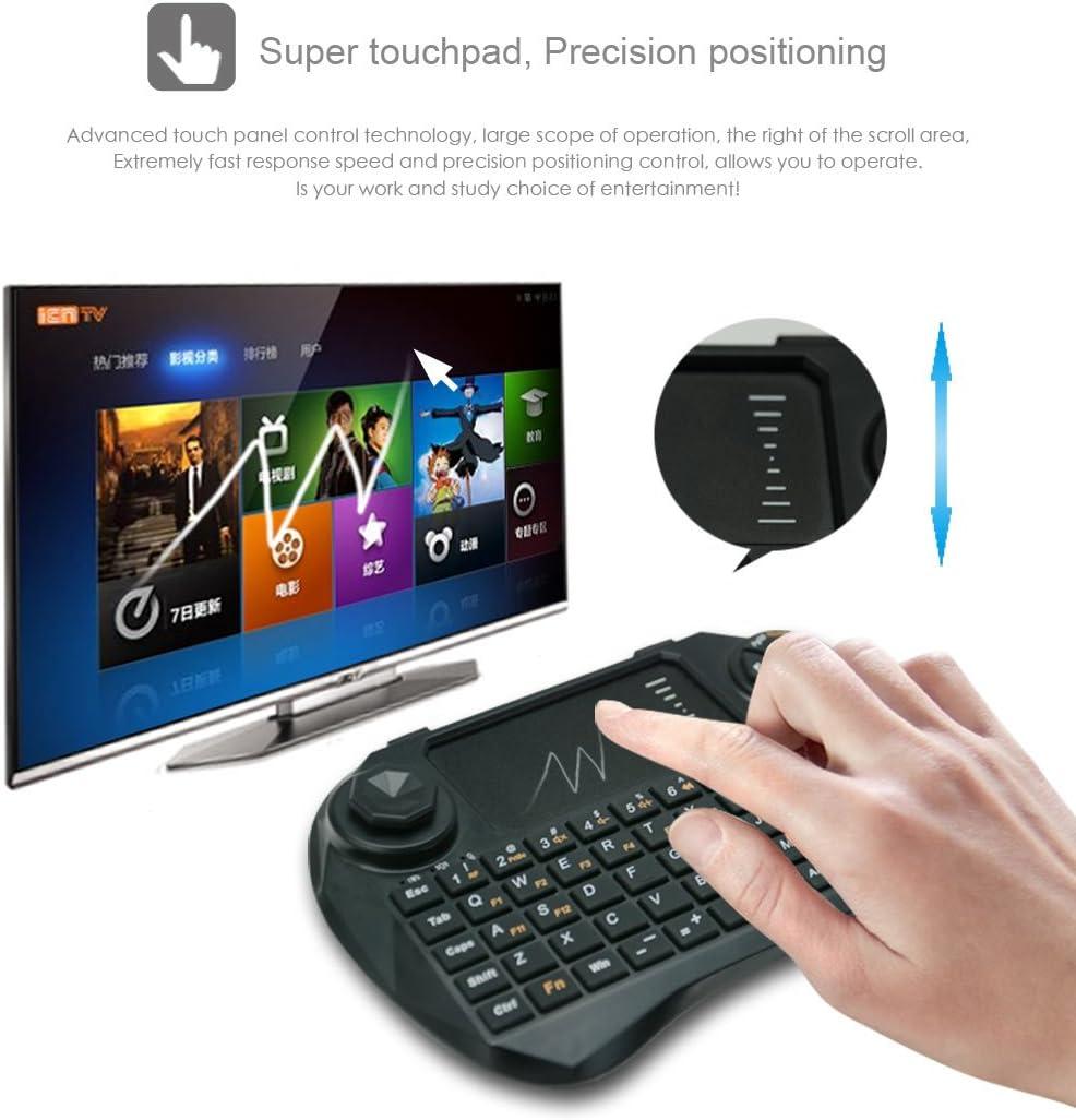 Viboton Wireless Mini Keyboard with Touchpad, Qwerty Keypad (Black, X3-DC)