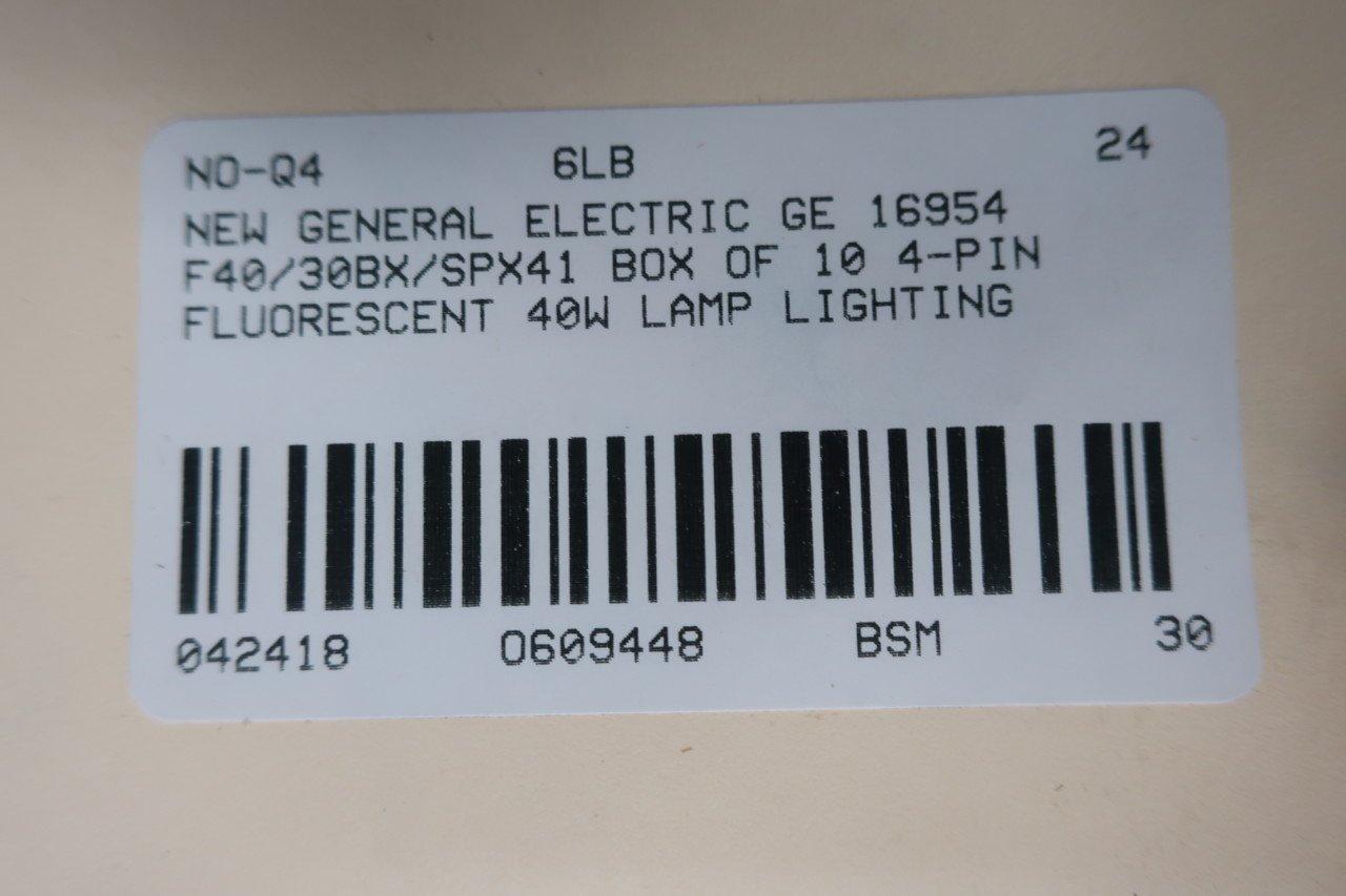 NEW NOS Box OF 10 GE 16648 Fluorescent Lamp Light F40//30BX//SPX35 4 Pin 40W