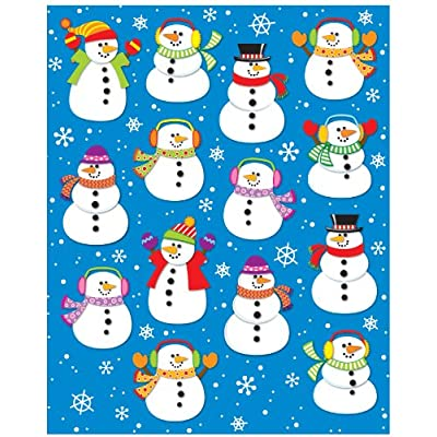 Carson Dellosa Snowmen Shape Stickers (168035): Carson-Dellosa Publishing: Office Products