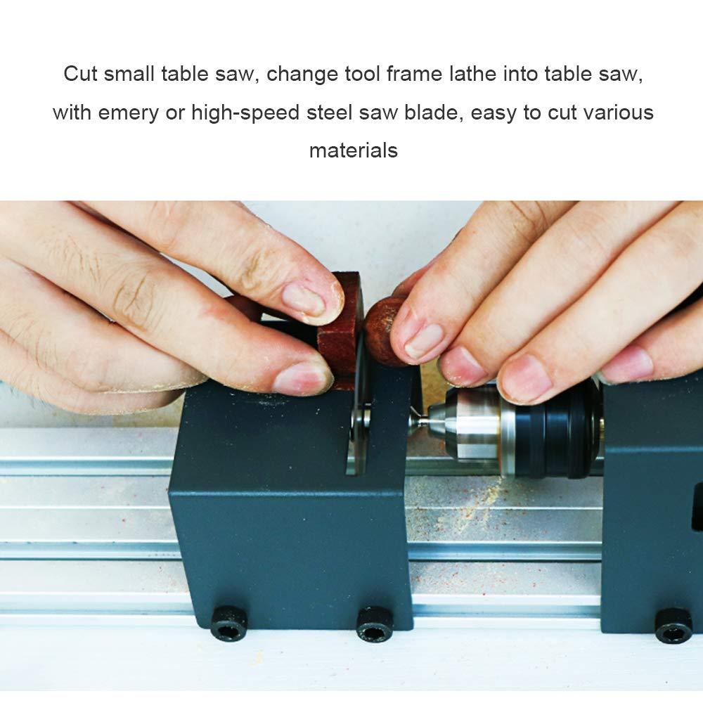 Mini Lathe Beads Polisher Machine Woodworking Craft DIY Rotary Tool Set Standard Grinding Set US Plug