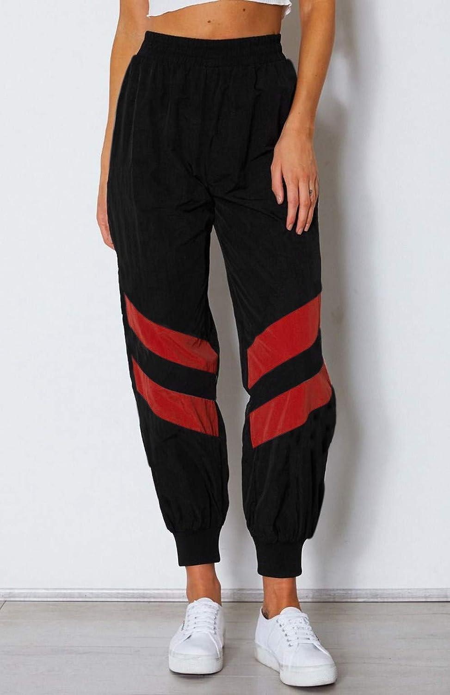 Costura de la Raya Pantalones de Har/én Leggings de Fitnes Yoga Deportes de Alta Cintura Hanomes,Hip hop,Pantalones deportivos Leggings deportivos el/ásticos Pantalones de Pierna Ancha