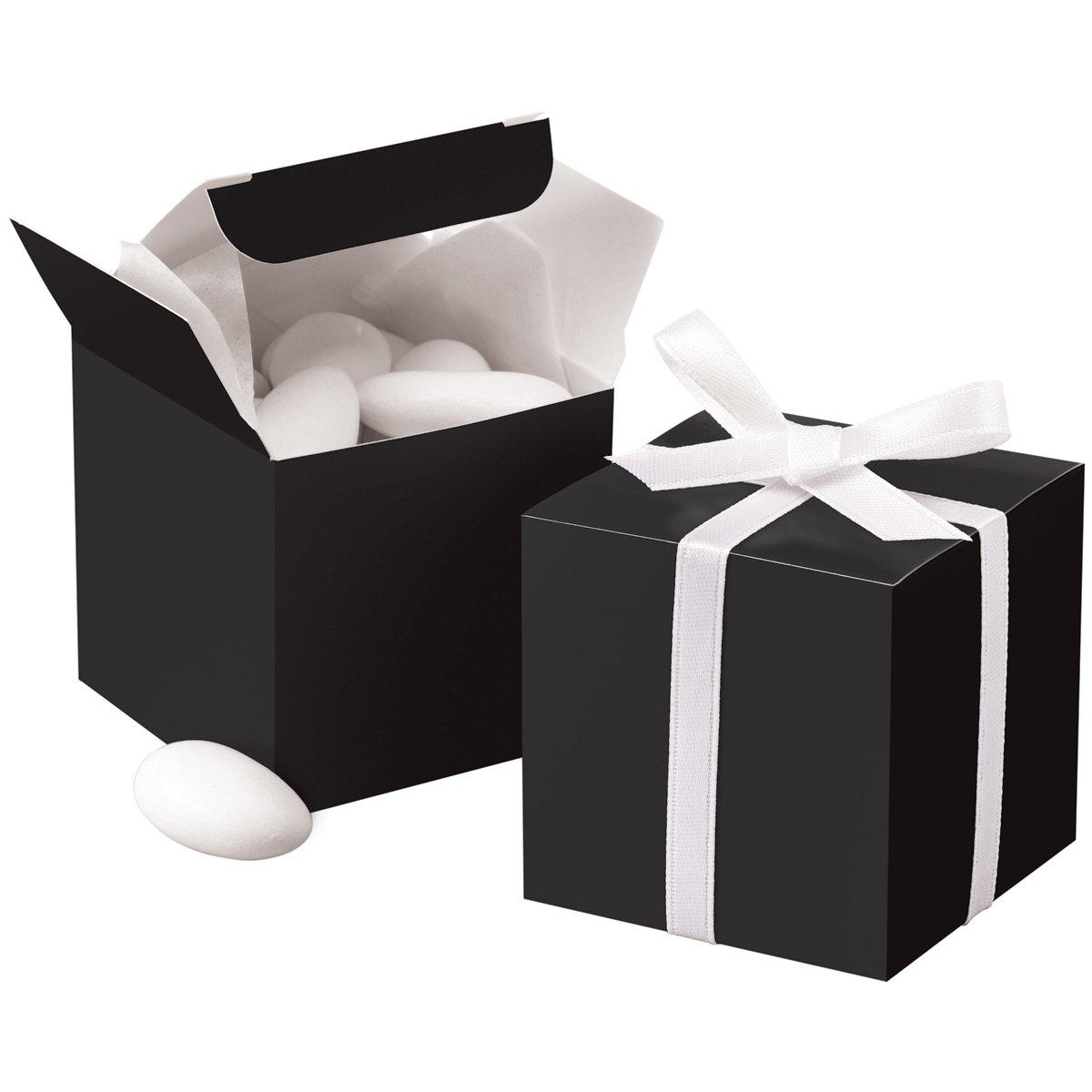 Wilton 1006-0638 Black Square Favor Box Kit, 100 Count by Simplicity (Image #1)