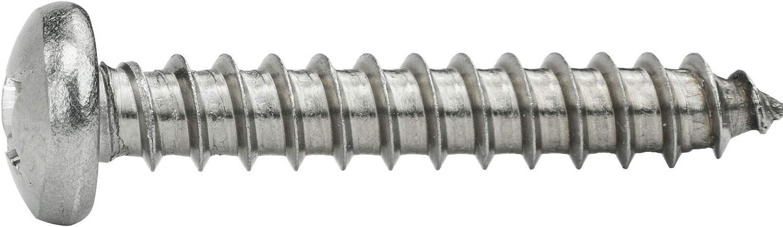 self Tapping Screws for Metal Self Tapping Pan Head Stainless Steel 100 Pcs self Tapping Metal Screws #12 x 2 Sheet Metal Screws