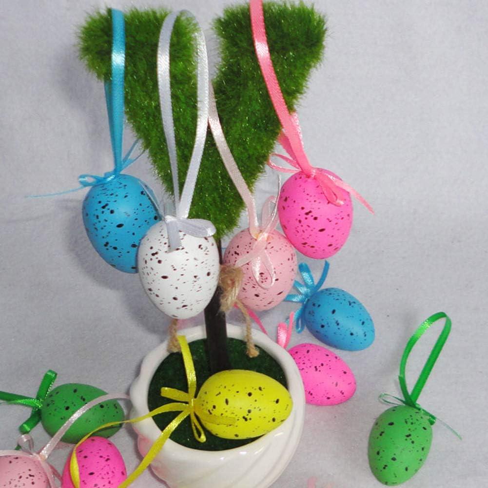 /æ/— 36pcs Uova di Pasqua Ornamento Appeso Uova per Albero Decorativo Pasqua Appeso Uova Bambini Scuola Home Office Party Supplies Regali