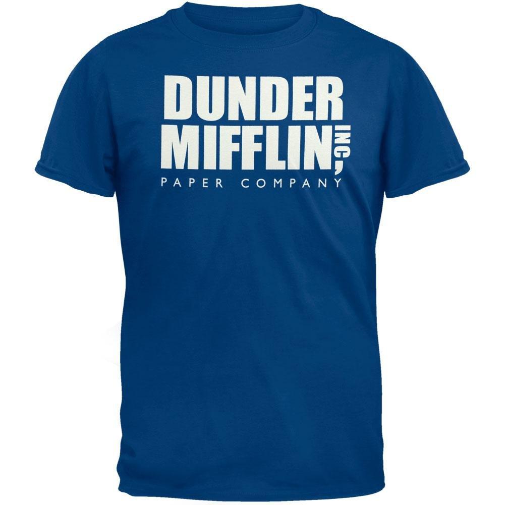 The Office - Dunder Mifflin Blue T-Shirt - X-Large Tees Plus