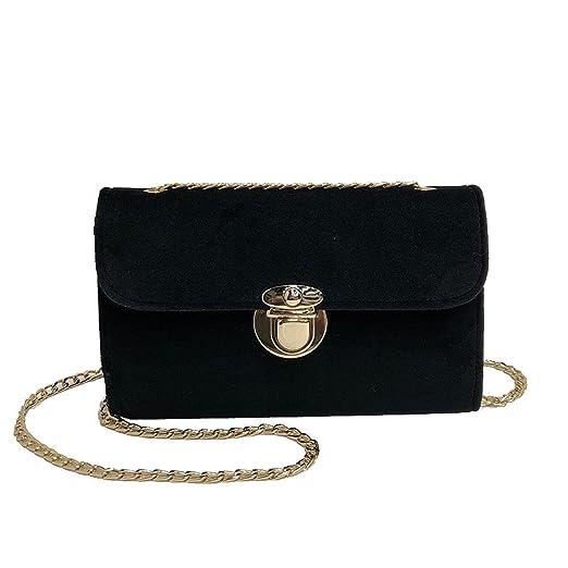 Women Crossbody Bags Hosamtel Ladies Fashion Gold Velvet Shoulder Bag  Messenger Bag Rucksack Bag Purse Bag f69e9dfd0b