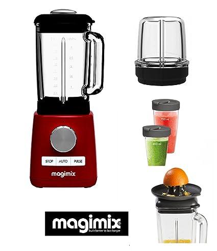 Magimix Power Batidora -Blender rojo new 1300-22000 rpm (+ 3 ACCESORIOS OPCIONALES