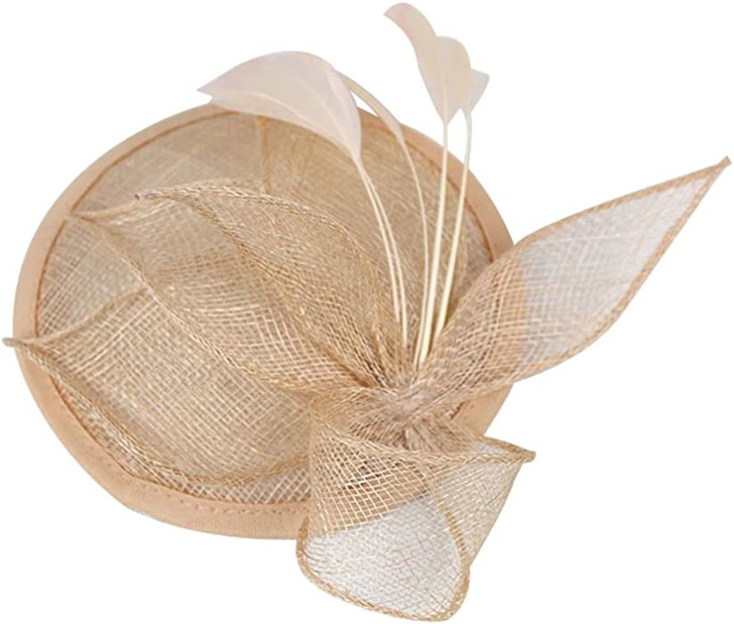 db3b5c2b555 Sinamay Fascinator Pillbox Hat Headband Hair Clip for Cocktail Tea Party