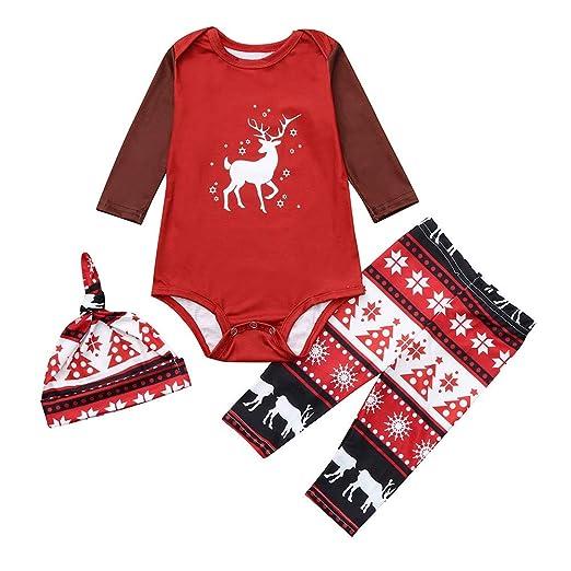 b37922839 Amazon.com: Matching Set Family Christmas Holiday PJ Pajamas Deer by  kaiCran: Clothing