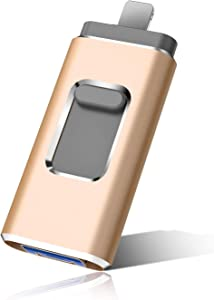 Flash Drive for iPhone Photo Stick 1TB Memory Stick USB 3.0 Flash Drive Thumb Drive for iPhone iPad Android and Computers(1TB. Gold)