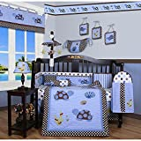 Animals 13-piece Crib Bedding Set, Et Includes A Quilt, Two Valances, Skirt, Crib Sheet, Bumper, Diaper Stacker, Toy Bag, Two Pillows And Three Wall Hangings.