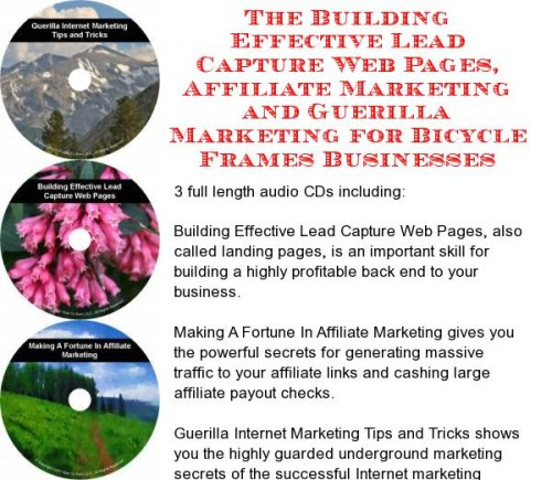 The Guerilla Marketing, Building Effective Lead Capture Web Pages, Affiliate Marketing for Bicycle Frames - Webpage Frame
