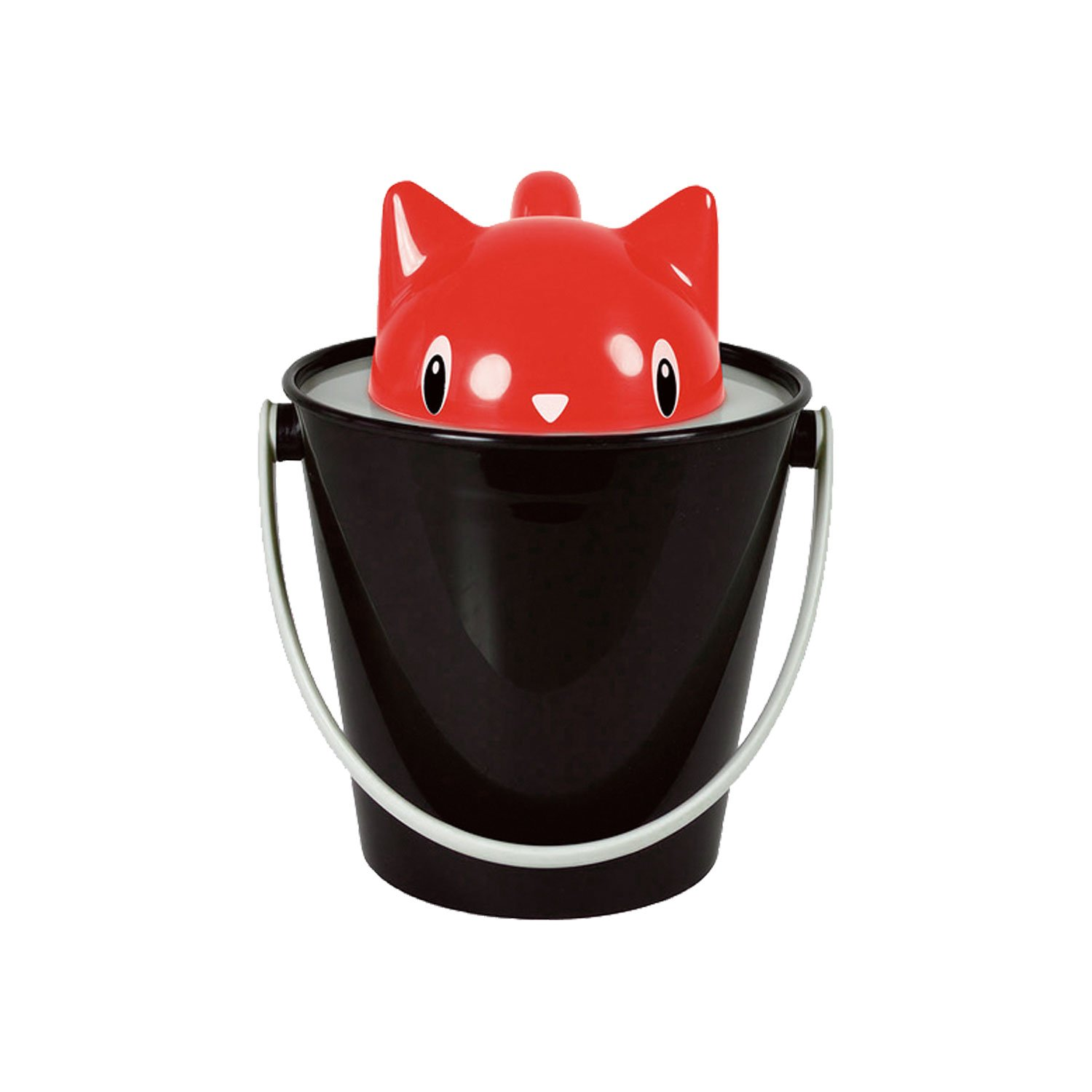 United Pets Crick Cat Dry Food Container Red Black