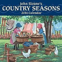John Sloane's Country Seasons 2016 Mini Wall Calendar