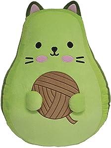 """iscream Bubble Gum Scented Avocato Embroidered 10"""" Mini Fleece Pillow"""