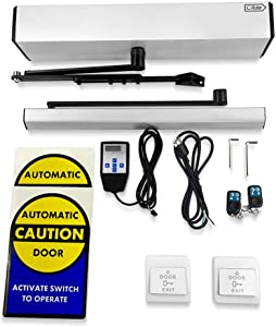 Push Button Swing Door Opener,Remote Control Swing Door Closer,Automatic Swing Door with Wired Push Buttons