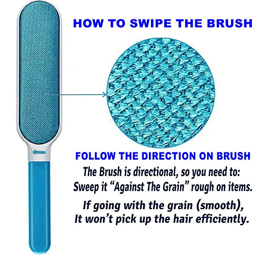 Lint Brush - Pet Hair Remover Brush - Dog & Cat Fur Remover with Self-Cleaning Base - Efficient Double Sided Animal Hair Removal Tool - Perfect for Clothing, Furniture, Couch, Carpet, Car Seat- BONUS by Cambodra (Image #6)