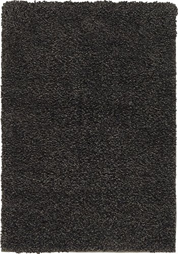Unique Loom Solo Collection Solid Plush Kids Charcoal Area Rug (2' 2 x 3' 0) ()